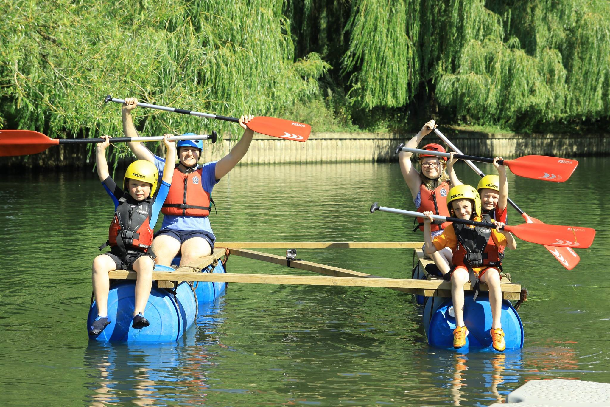 12th Northolt Cubs rafting on Summer Camp 2015
