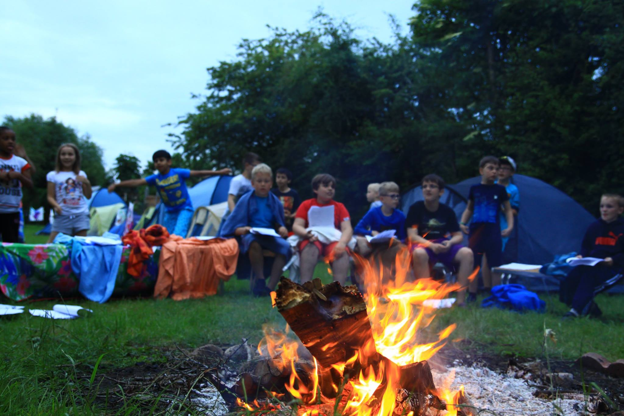 12th Northolt Beavers, Cubs and Scouts around the campfire